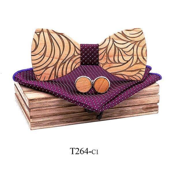 Coffret noeud papillon en bois original | Marc 8
