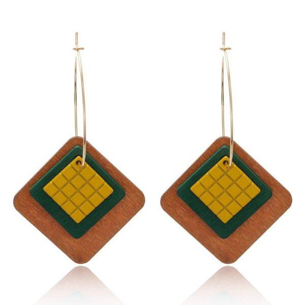 Boucles d'oreilles en bois femme | Léonie 4