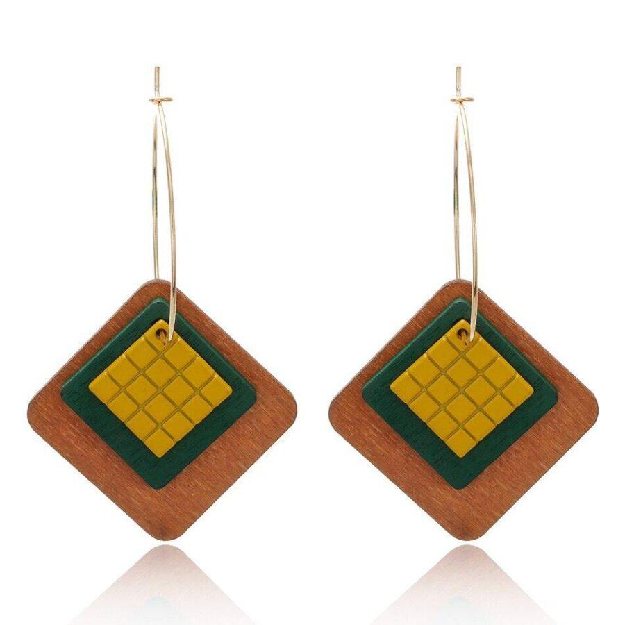 Boucles d'oreilles en bois femme | Léonie 1