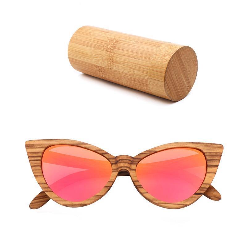 Lunettes de soleil rose en bois | Ladies 1