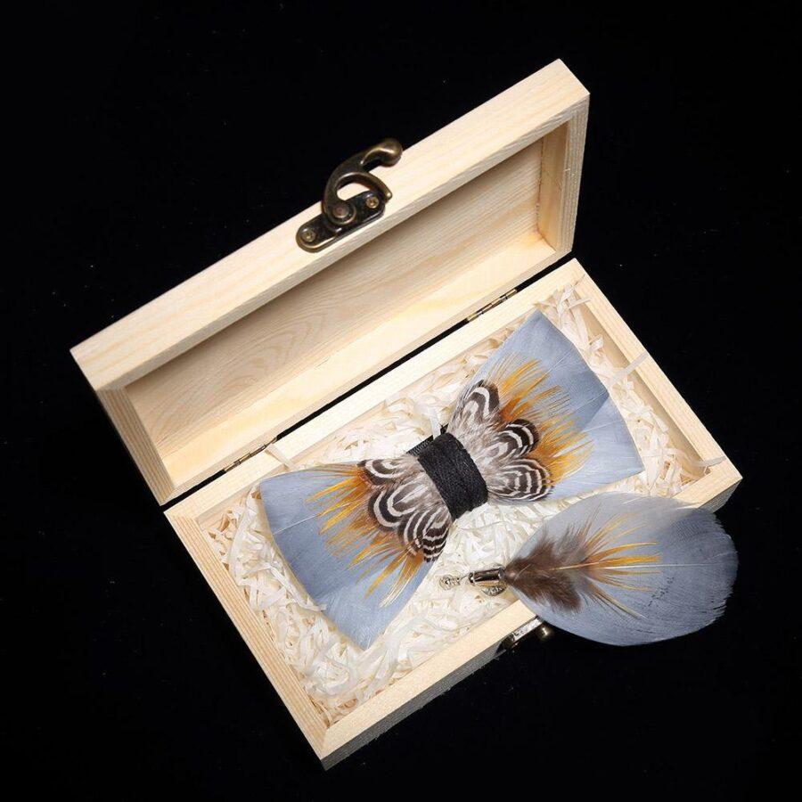 Nœud papillon bois gris   Papilio 1