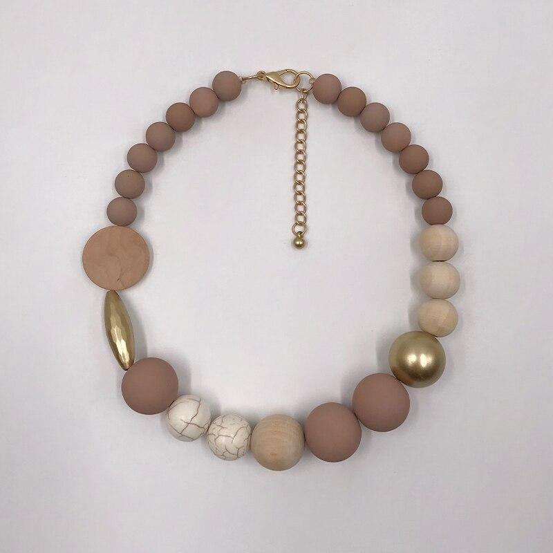 Ras de cou en perle de bois | Lipa 1