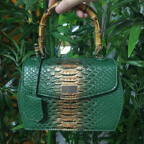 Sac imprimé vert et bambou | Elisa 8