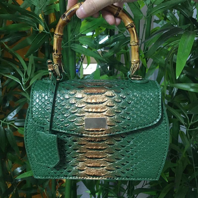 Sac imprimé vert et bambou | Elisa 1