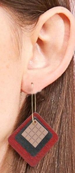 Boucles d'oreilles en bois femme | Léonie 6