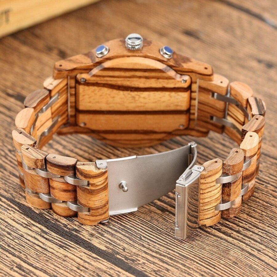 Montre en bois chronographe   Amoureuse 1
