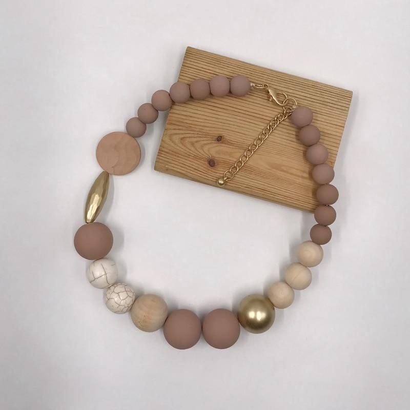 Ras de cou en perle de bois | Lipa 3