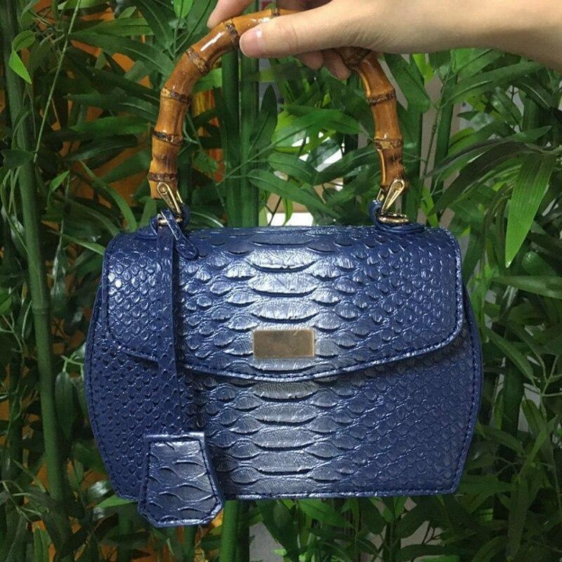 Sac imprimé bleu et bambou | Elisa 1