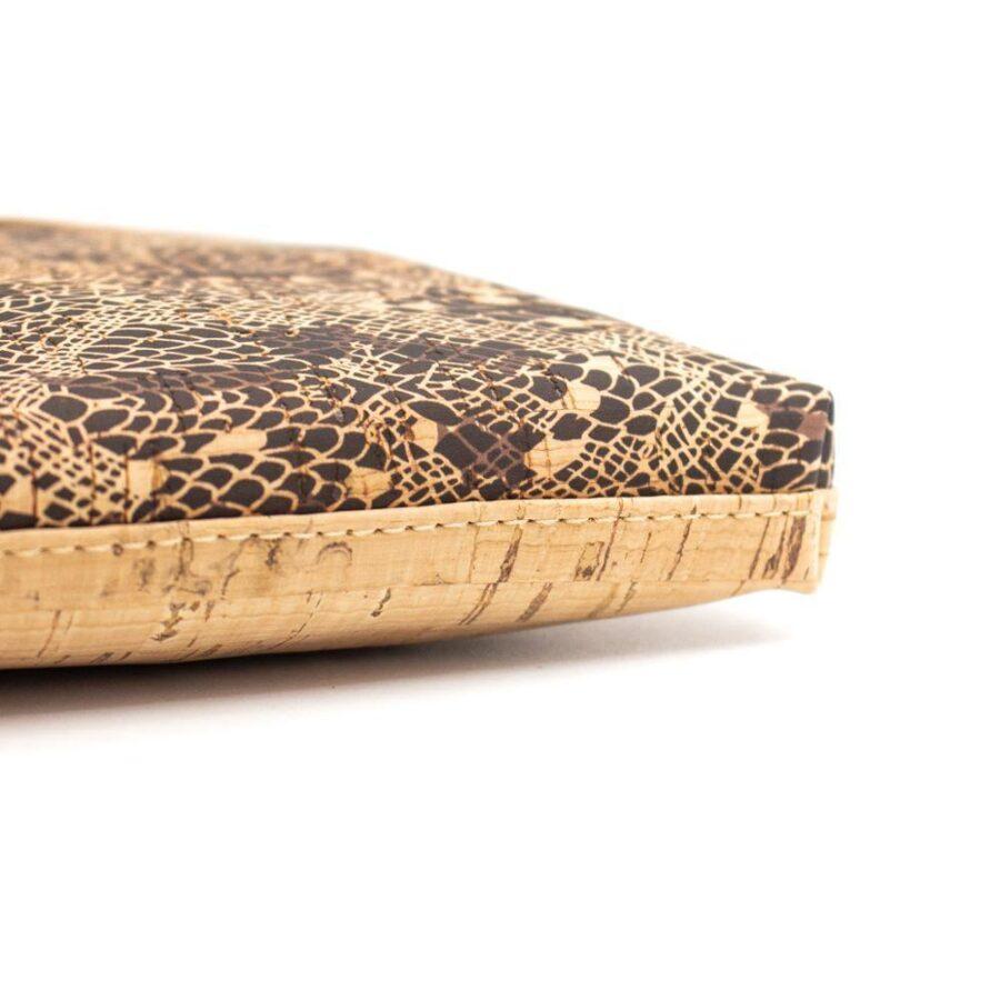 Sacoche en liège femme imprimé peau serpent | Lysia 1