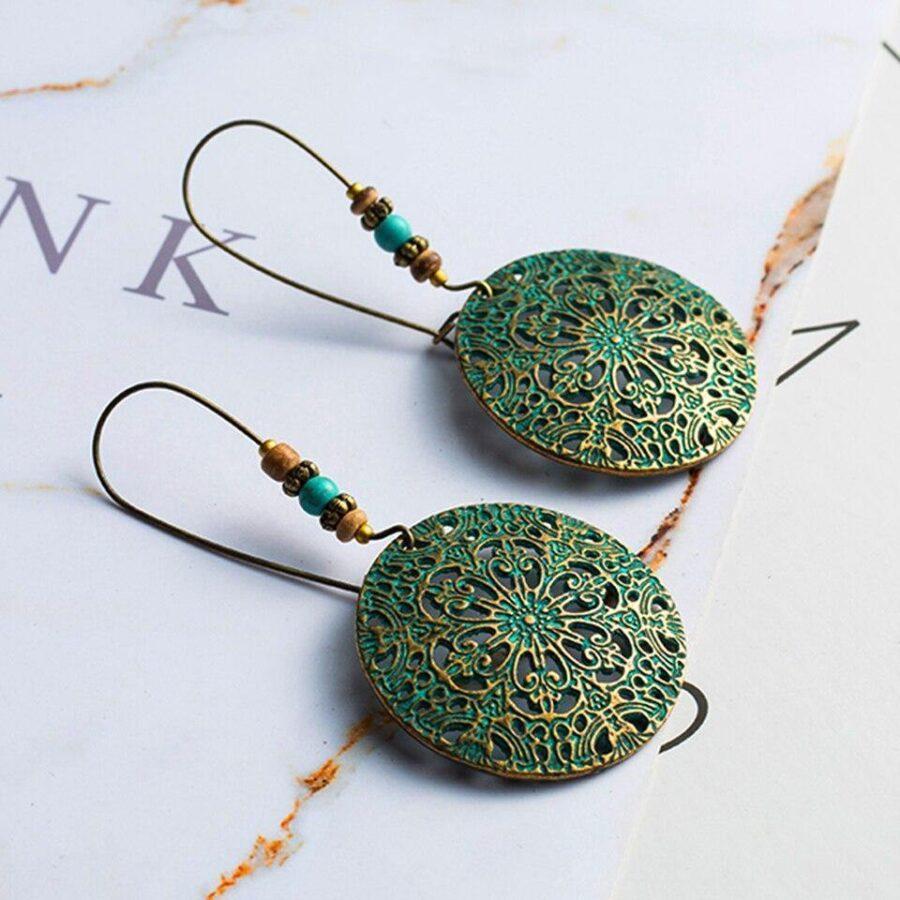 Boucles d'oreilles Bohème pendante | Tulipe 2