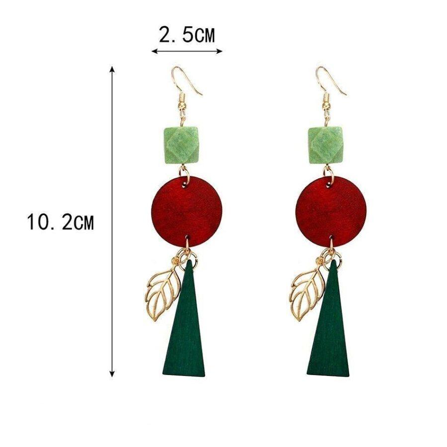 Boucles d'oreilles en bois pendantes | Madison 8