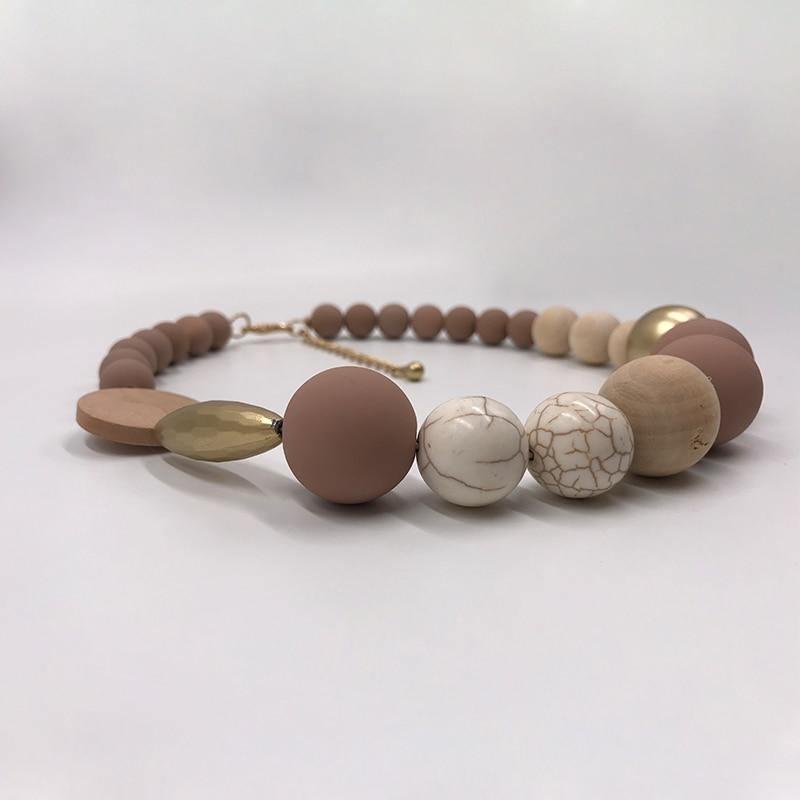 Ras de cou en perle de bois | Lipa 5