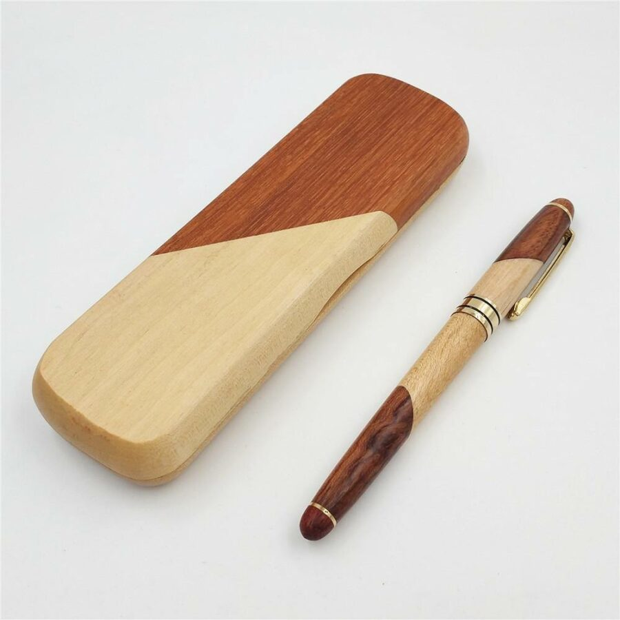 Stylo en bois   Bicolore 1
