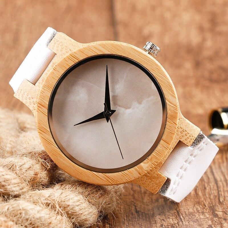 Montre en bois bambou et cuir | Coco 2