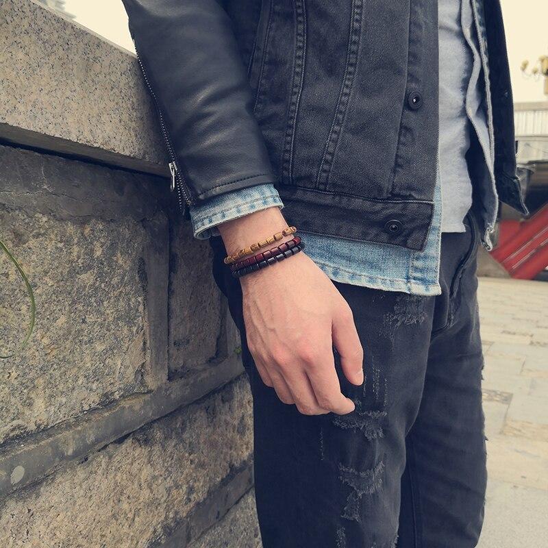 Bracelet bouddhiste en bois | Yahnaa 2