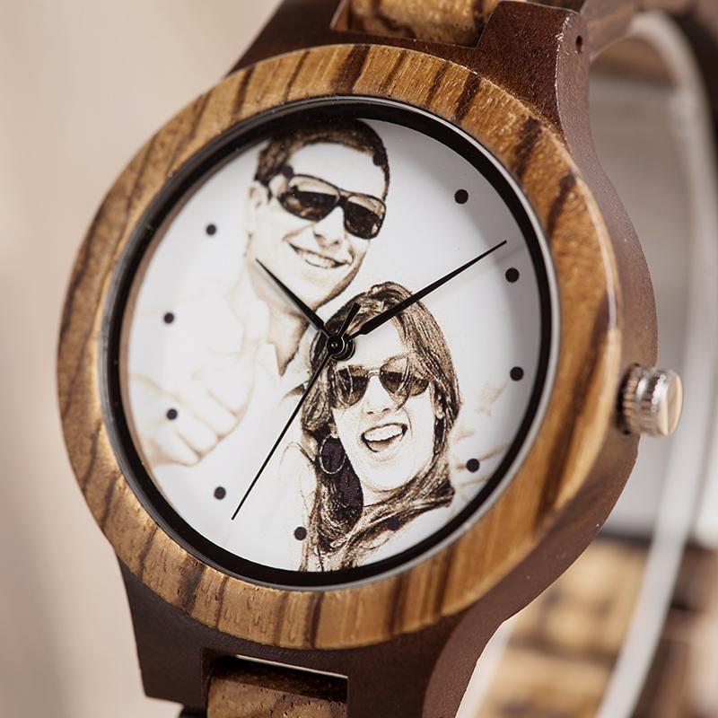 Montre en bois personnalisable | Pixel 2
