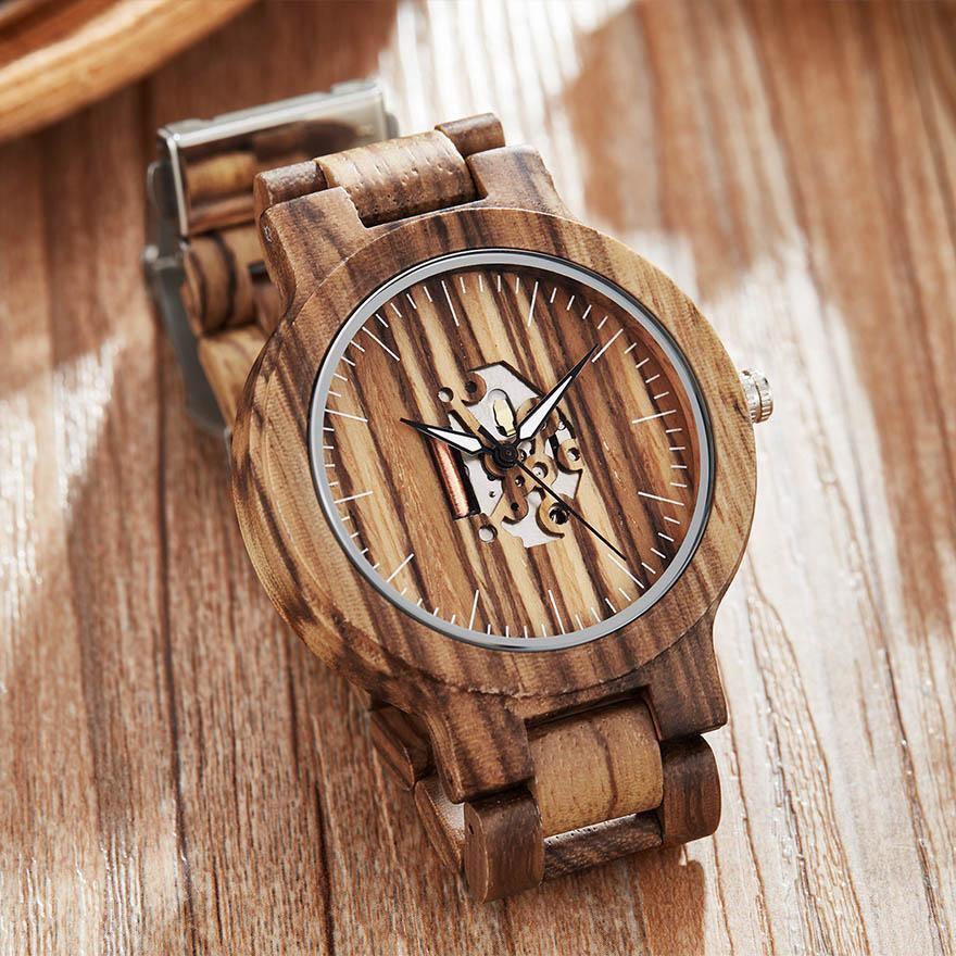 Montre en bois squelette original | Francès 3