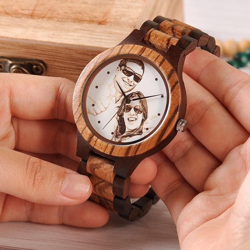 Montre en bois personnalisable | Pixel 1
