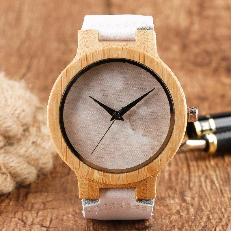 Montre en bois bambou et cuir | Coco 1