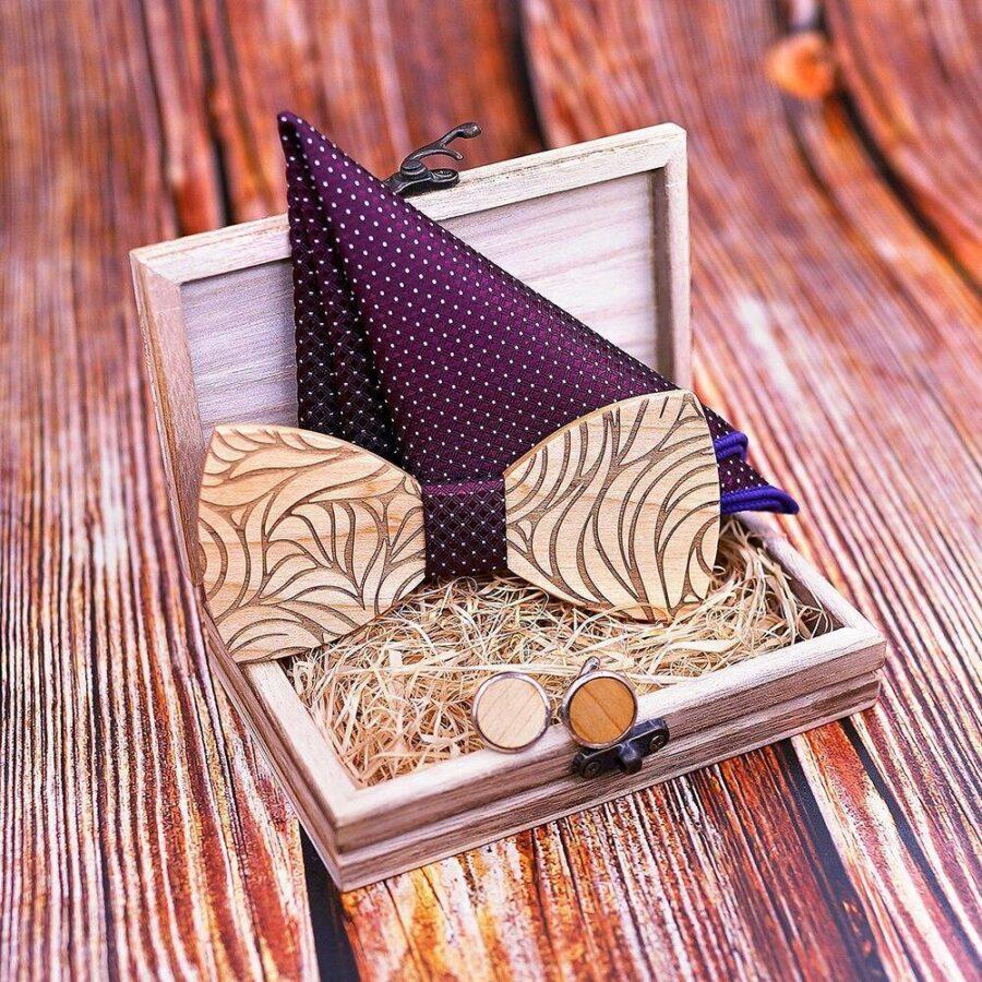 Coffret noeud papillon en bois original | Marc 7