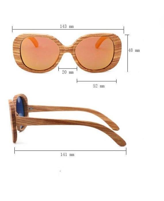 Lunettes de soleil en bois verre marron 1