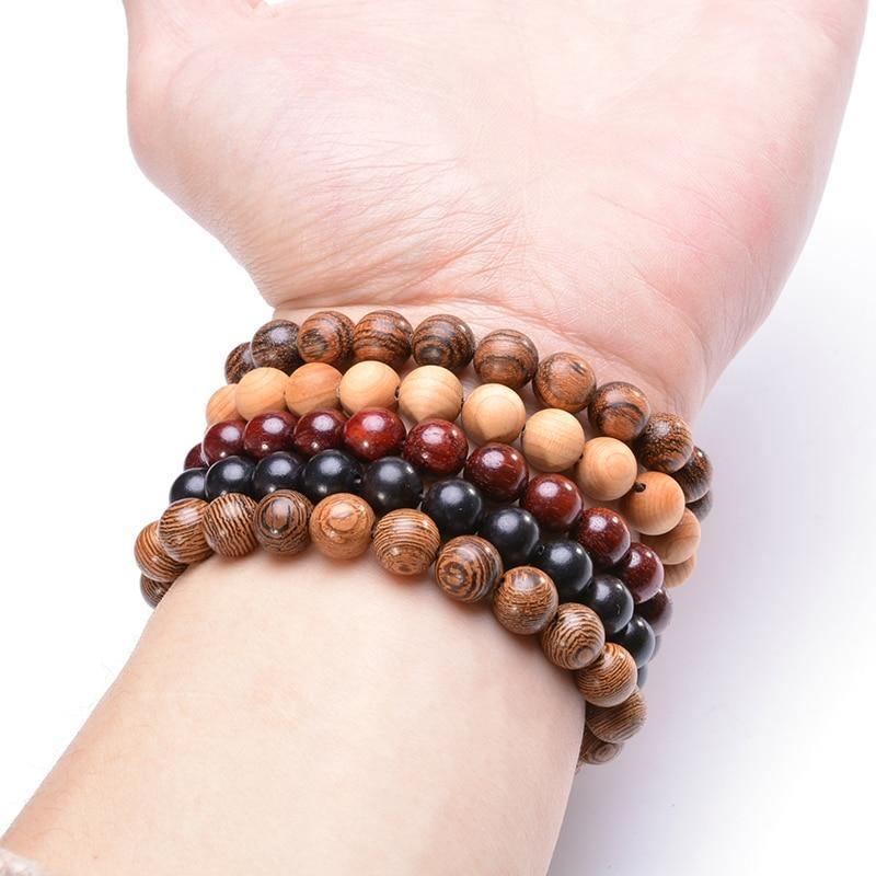 Bracelet en bois yoga | Médi 4