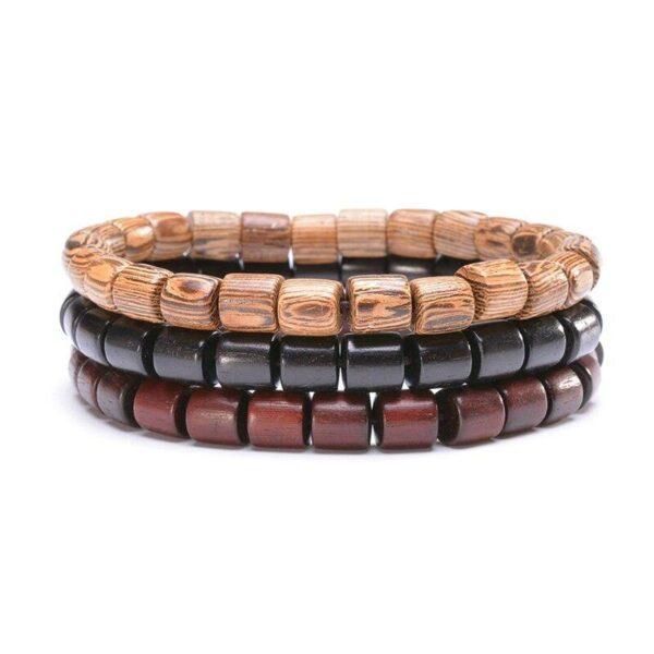 Bracelet bouddhiste en bois | Yahnaa 7