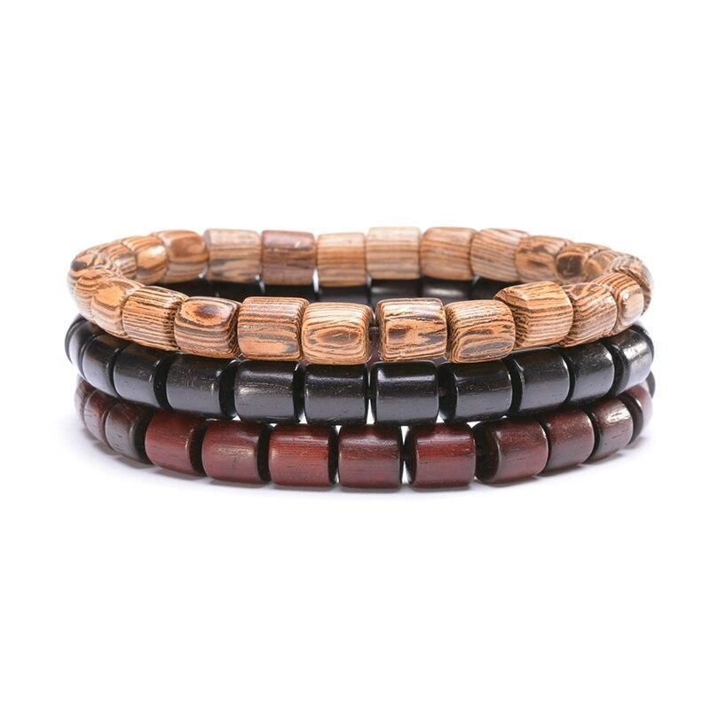 Bracelet bouddhiste en bois | Yahnaa 1