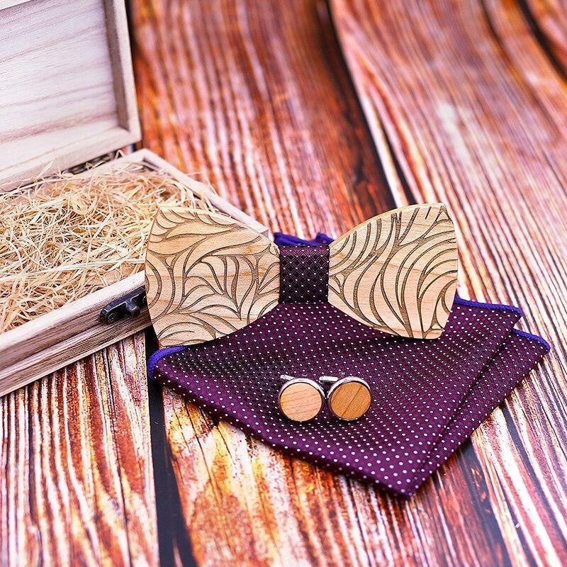 Coffret noeud papillon en bois original | Marc 5