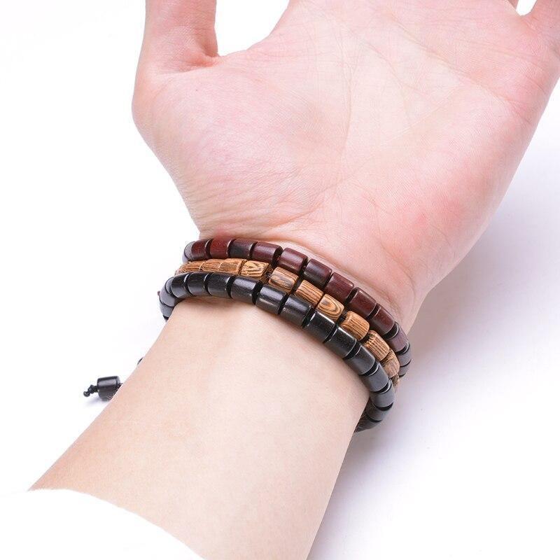 Bracelet tibétain en bois | Soneeya 6