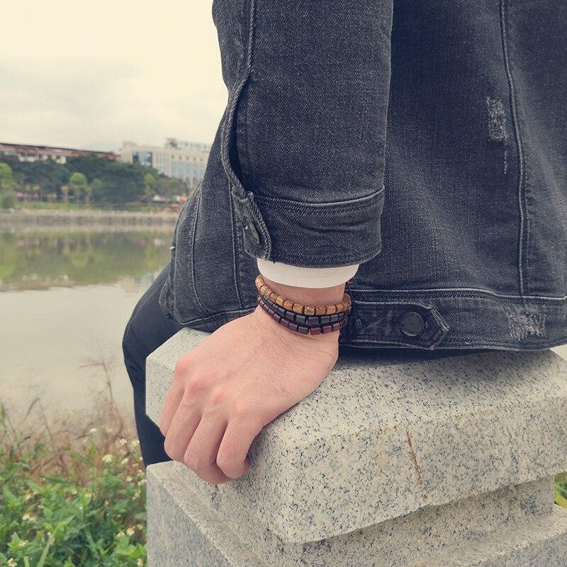 Bracelet tibétain en bois | Soneeya 4