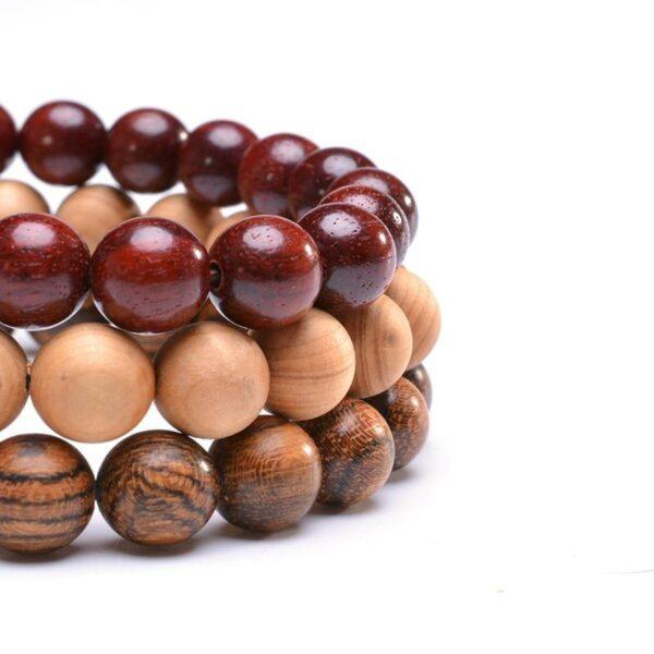 Bracelet en bois yoga | Médi 12
