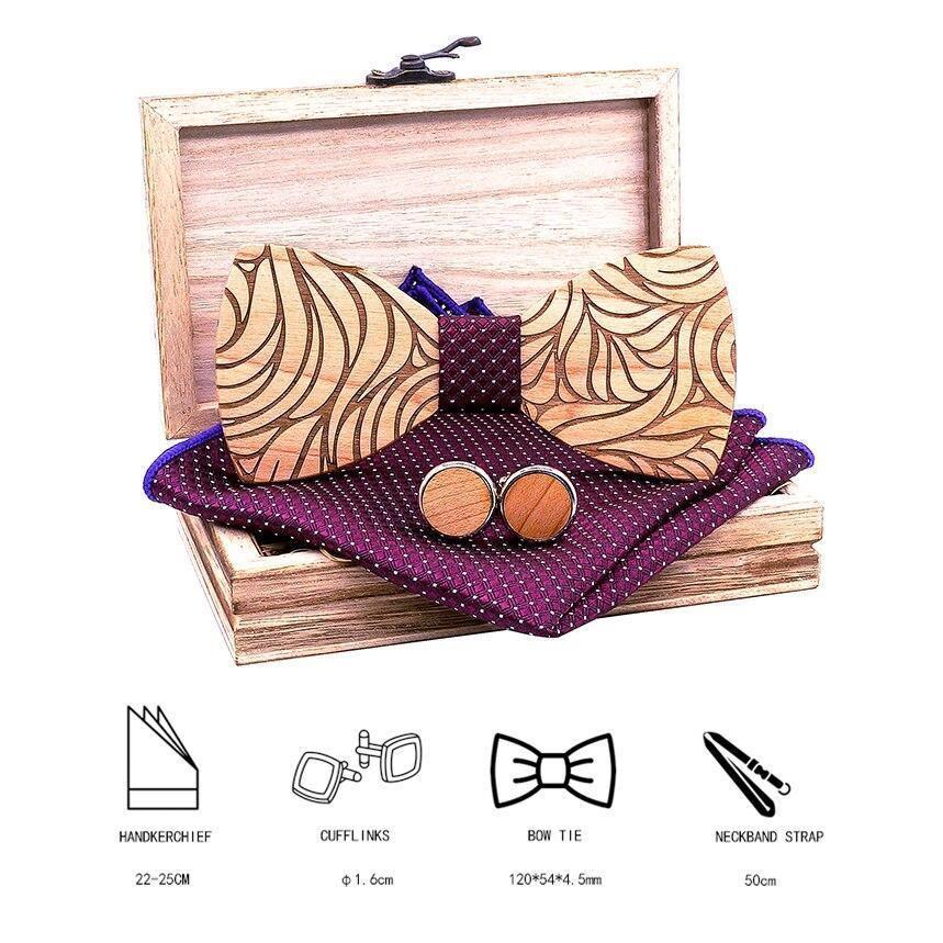 Coffret noeud papillon en bois original | Marc 4