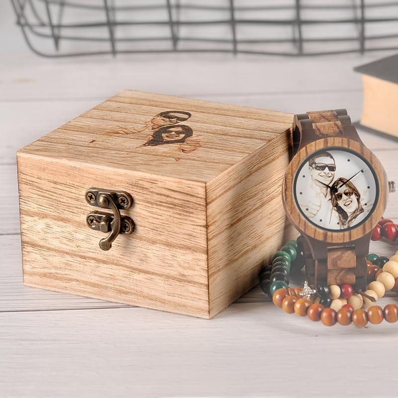 Montre en bois personnalisable | Pixel 5