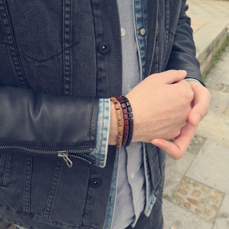 Bracelet bouddhiste en bois | Yahnaa 3