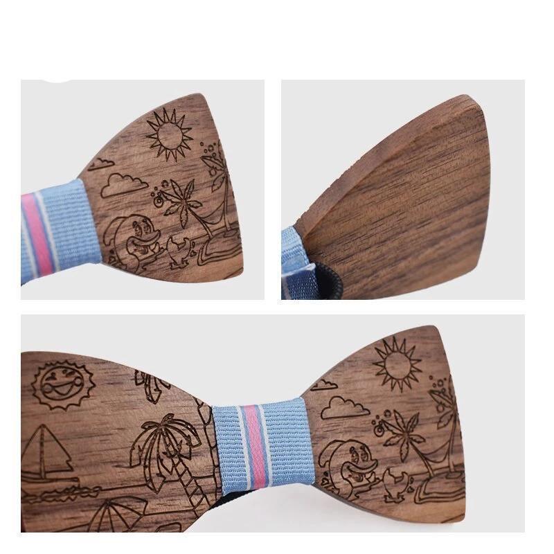 Noeud papillon en bois   Cartoon 3