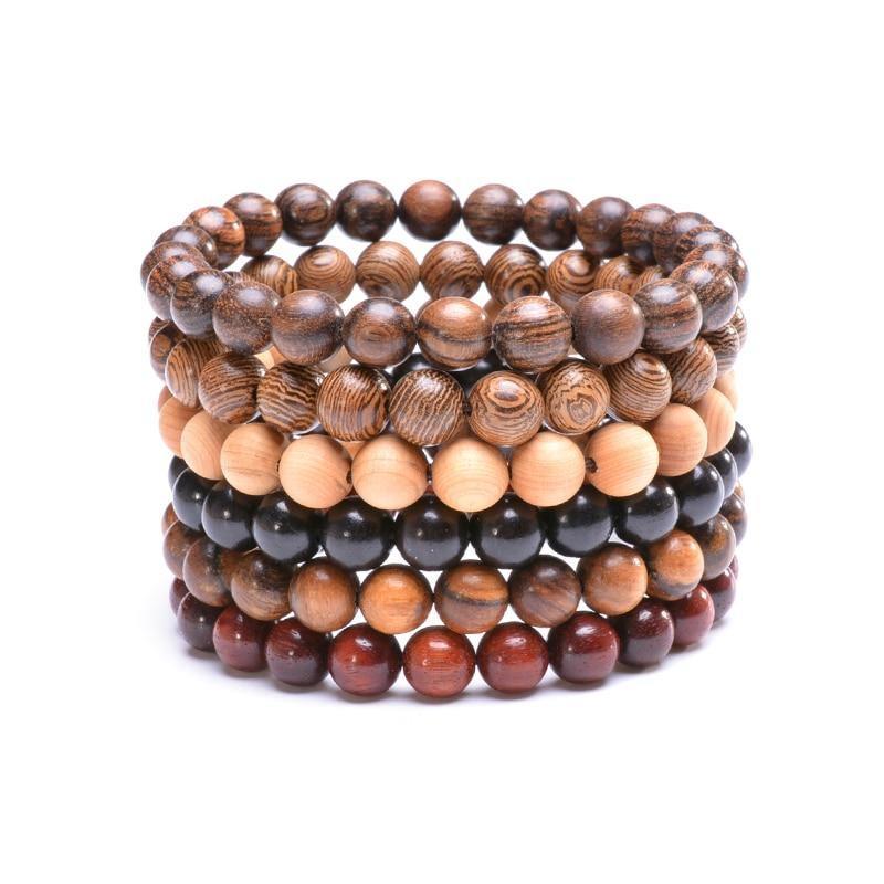 Bracelet en bois yoga | Médi 5