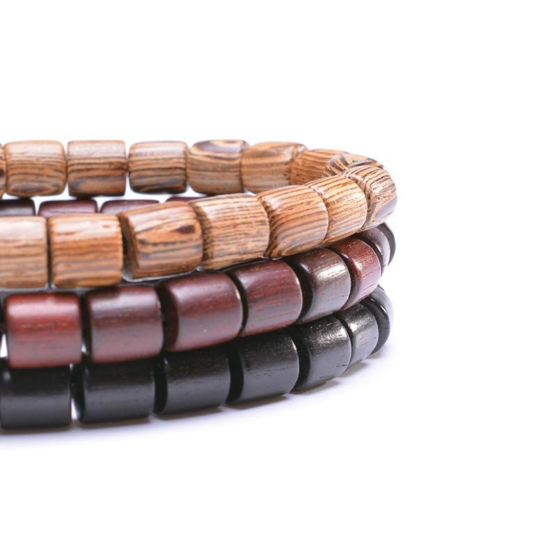 Bracelet bouddhiste en bois | Yahnaa 4